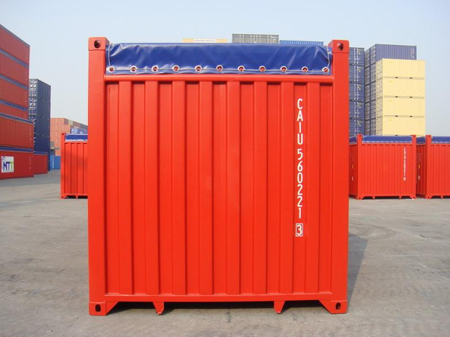 container 40 piedi open top retro